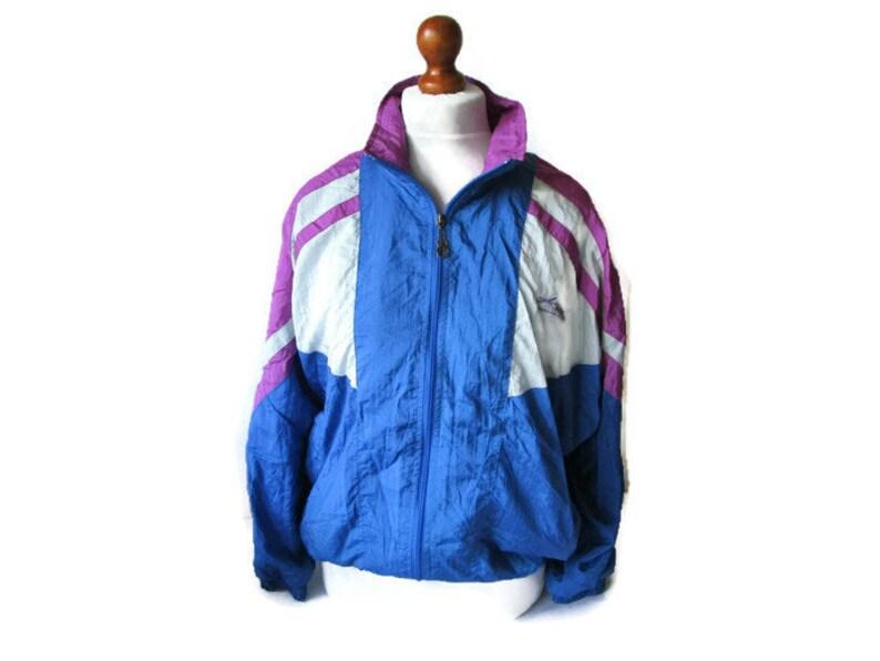 Vintage 80er Jahre Trainingsanzug läuft Jacke KILLTEC blau weiße Trainingsjacke Joggen Sportswear Farbblock Unisex Herren uns mittlerer Größe