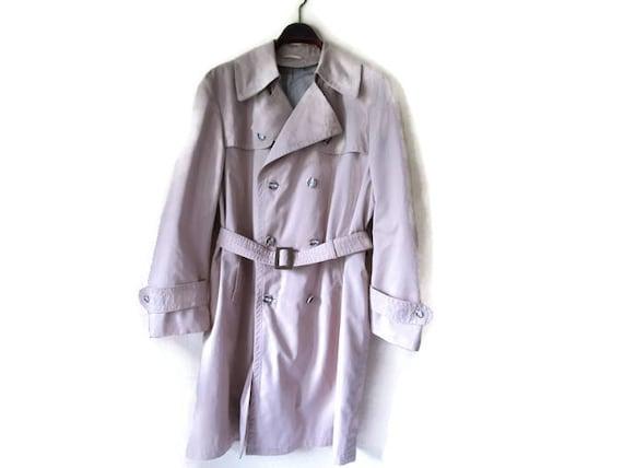 Gürtel Mantel Mens Mantel Vintage der Vintage 70er Herren Trenchcoat Regen Mantel Jahre Herrenmode 1970er Beige lange Mantel Jahre Duster KJuTl13Fc5