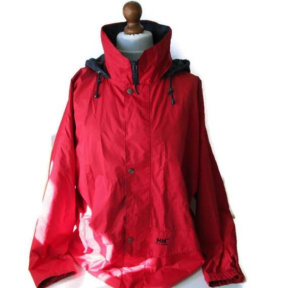 Jahre Sportswear Helly 1990er Wasserdicht Größe Windbreaker Zahnrad Rot Vintage Jacke Herren Hoodie LXl JackeSegeln Blau Hansen VpzMSU