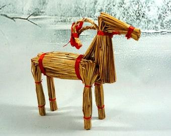 Scandinavian Straw Goat Yule Goat Ornament  1960s Swedish Yuletide  Scandi Christmas