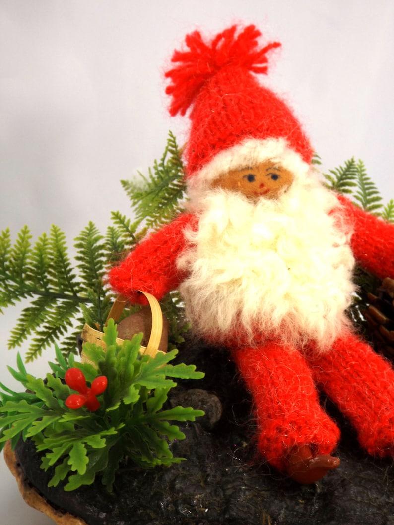 1970s Swedish Christmas Gnome Handmade Ornament Retro Scandi Christmas Nordic Christmas