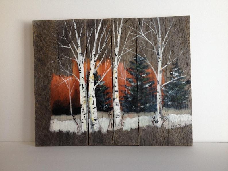 Pallet Painting Distressed Wood Art Pallet Art   Etsy