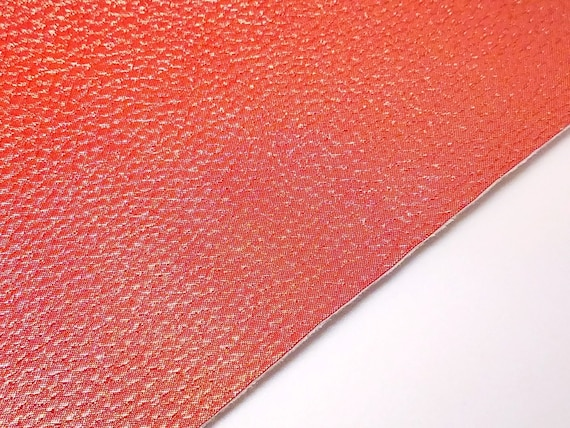 Red XOXO faux leather fabric sheet //full or 1//2 sheet