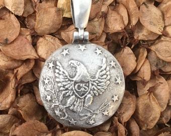 MP5A Button Civil War Relic Pendant .925 Silver Confederate Local MISSISSIPPI