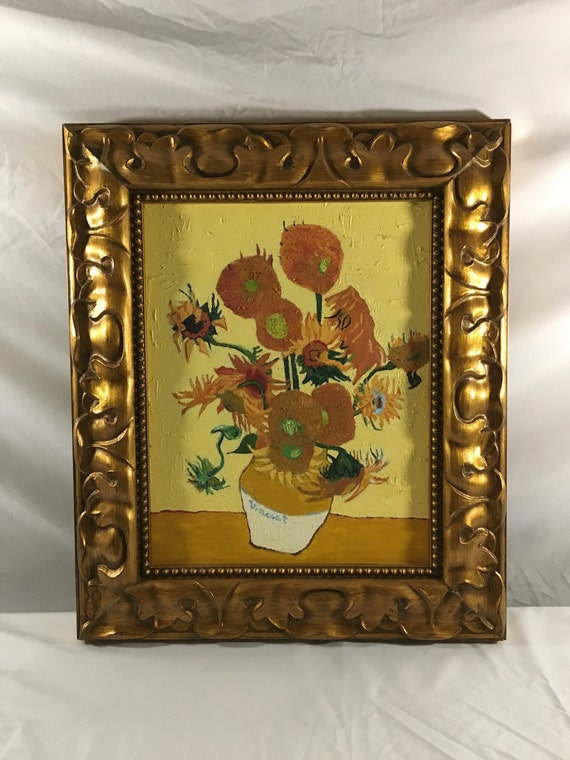 Vase With Fifteen Sunflowers Van Gogh Oil On Canvas Painting Etsy