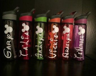 Disney lettering/ picture for water bottle