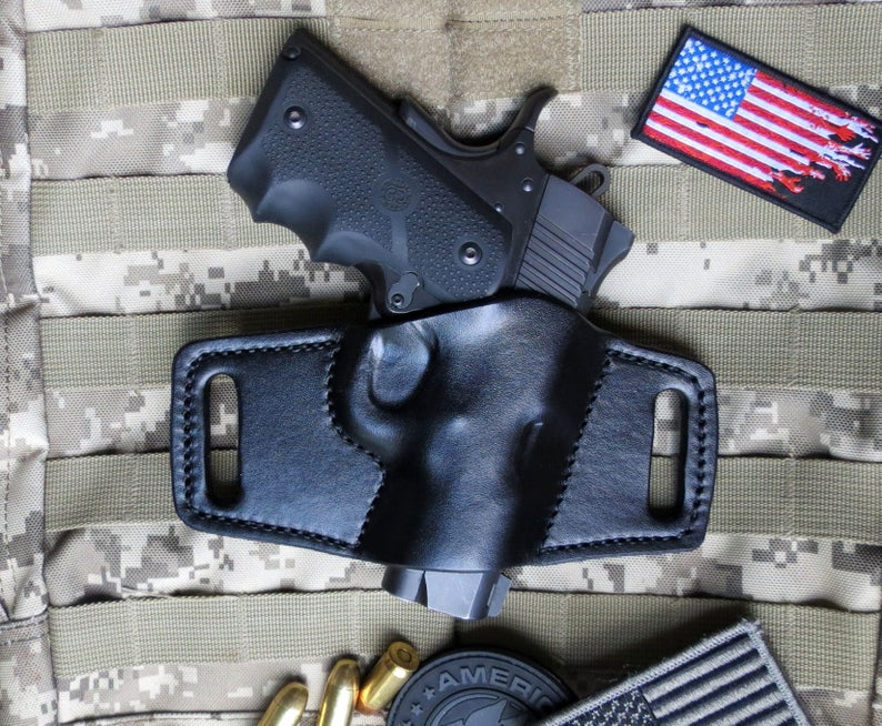 1911 Off Duty Holster, Leather, Custom Made in US, Concealed Carry