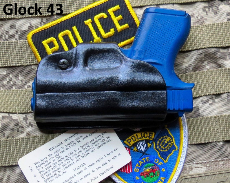 Glock 43 Undercover Small of Back (SoB) Professional Leather Holster, OWB
