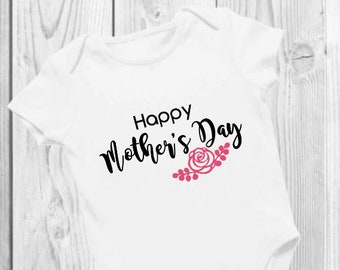 Mother's Day | Baby Bodysuit | Onesie® | Personalize | Flower