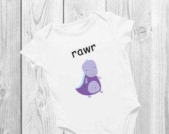 Rawr | Dinosaur | Baby | Onesie® | Bodysuit | Cute