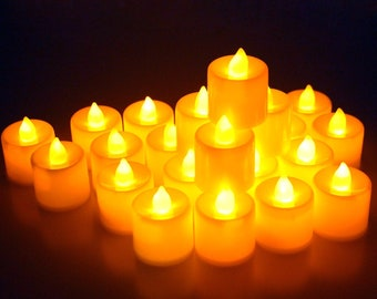 155364cf92 24 Pcs LED Flameless Candles Votive Candles Flickering Tealight Candles  Battery Included USA Seller