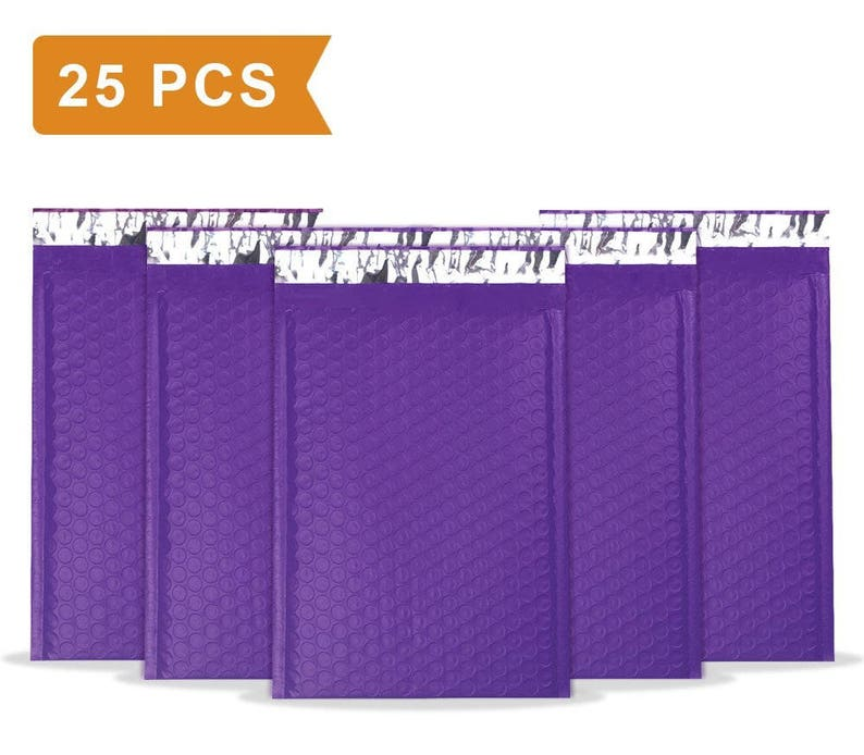 25 Pcs 6 X 10 Inch Bubble Mailers Padded Envelopes Pack Of 25 Self Sealing Bubble Envelopes Purple U S A Seller Fast Shipping