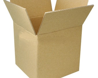 25 pcs 4,6,8 or 10 inch Shipping Boxes Cube Corrugated Cardboard Packing Mailing Moving Shipping Boxes Corrugated Box Cartons