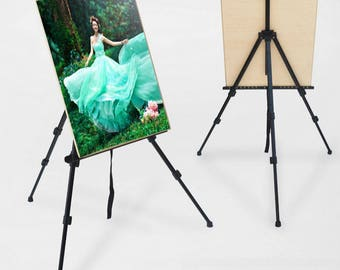 Adjustable Aluminium Alloy Folding Artist Painting Easel Tripod +Carry Bag Aluminum, Black,  Champagne U.S.A SELLER