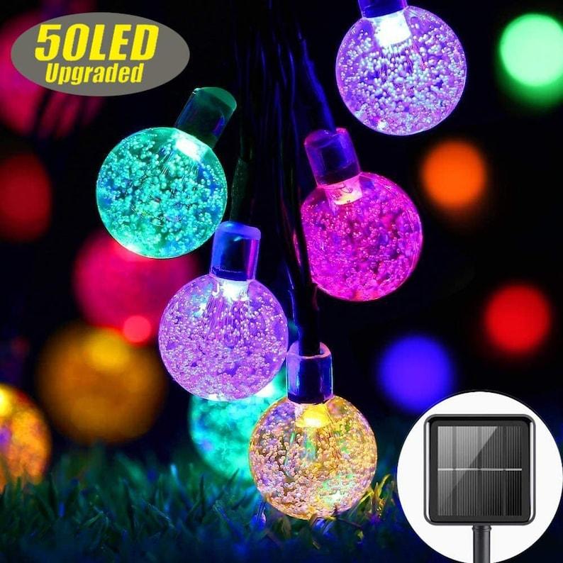 LED Multi-Color Ball Solar String Lights
