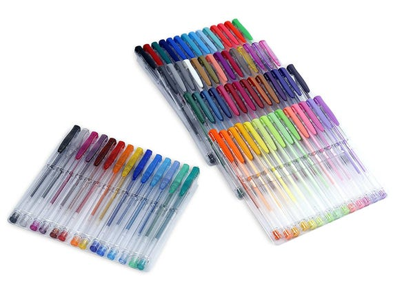 70 Unique Color Choices! LolliZ 70 Gel Pens Tray Set Office ...