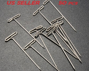 "50pcs Stainless Steel T Pin Great for DIY Crafts 1 1/2"" Length US SELLER"