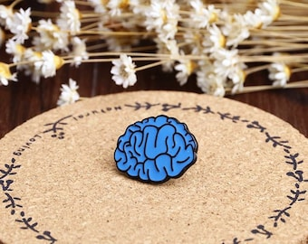The Overthinking Brain   Enamel Pin // Brain // Human Anatomy Series //  Badge, Brooch, Lapel Pin, Backpack Pin // Cute U0026 Funky Accessories