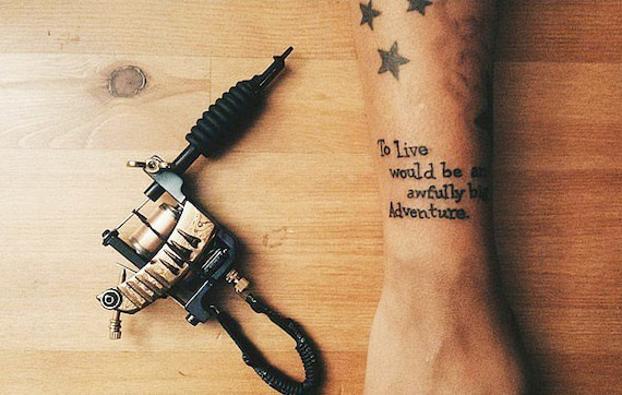 To Live Would Be An Awfully Big Adventure Temporary Tattoo Etsy