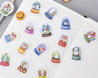 Snow Globes Flake Stickers (45 pcs) // Craft Materials // Planners // Travel Journals // Scrapbooking Essentials