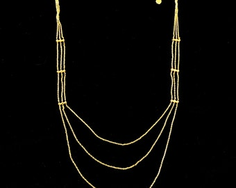18k Gold Plated Lariat Necklace \u2022 Very Cool Modern Design \u2022 Incredibly Light to Wear