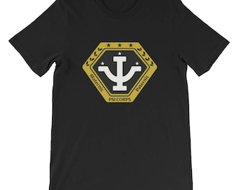 Babylon 5 - Psi Corps T-Shirt. TV show, Sci-fi, Geek Gift, Short-Sleeve Unisex T-Shirt