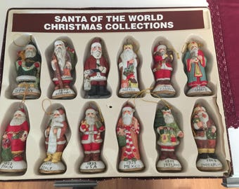 Santa of The World Christmas Collection Ornaments