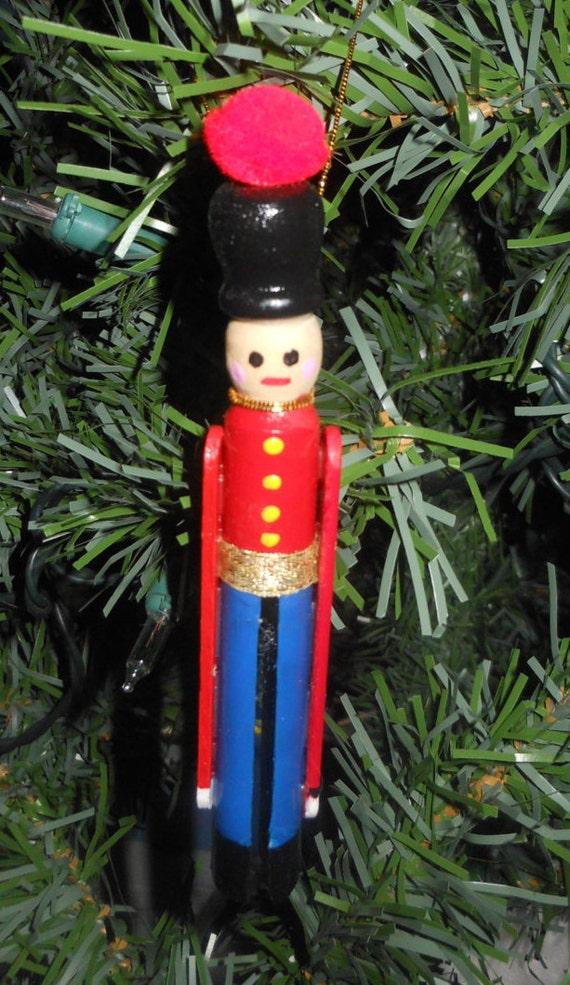 Vintage Handmade Wood Nutcracker Christmas Ornaments