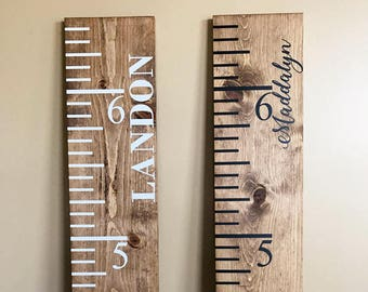 Giant Ruler | Wood Height Chart | Kids Height Ruler | Rustic Growth Chart | Oversized Ruler | Baby Shower Gift | Vintage Growth Chart | Gift