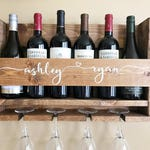Wedding Gift Wine Rack | Personalized Wedding Gift | Wall Mounted Wine Rack | Rustic Wine Rack | Custom Wine Rack | Personalized Wine Rack