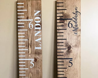Wood Ruler Large | Vintage Growth Chart | Oversized Ruler | Wooden Growth Chart | Growth Ruler | Baby Shower Gift | Nursery Growth Chart
