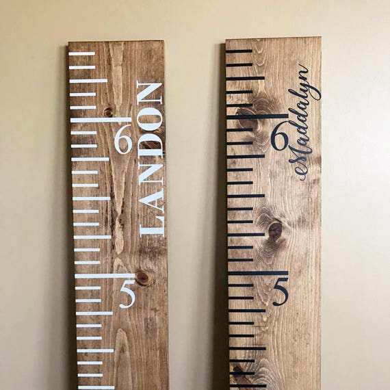 Baby Shower Gift Nursery Decor Height Chart Rustic Etsy