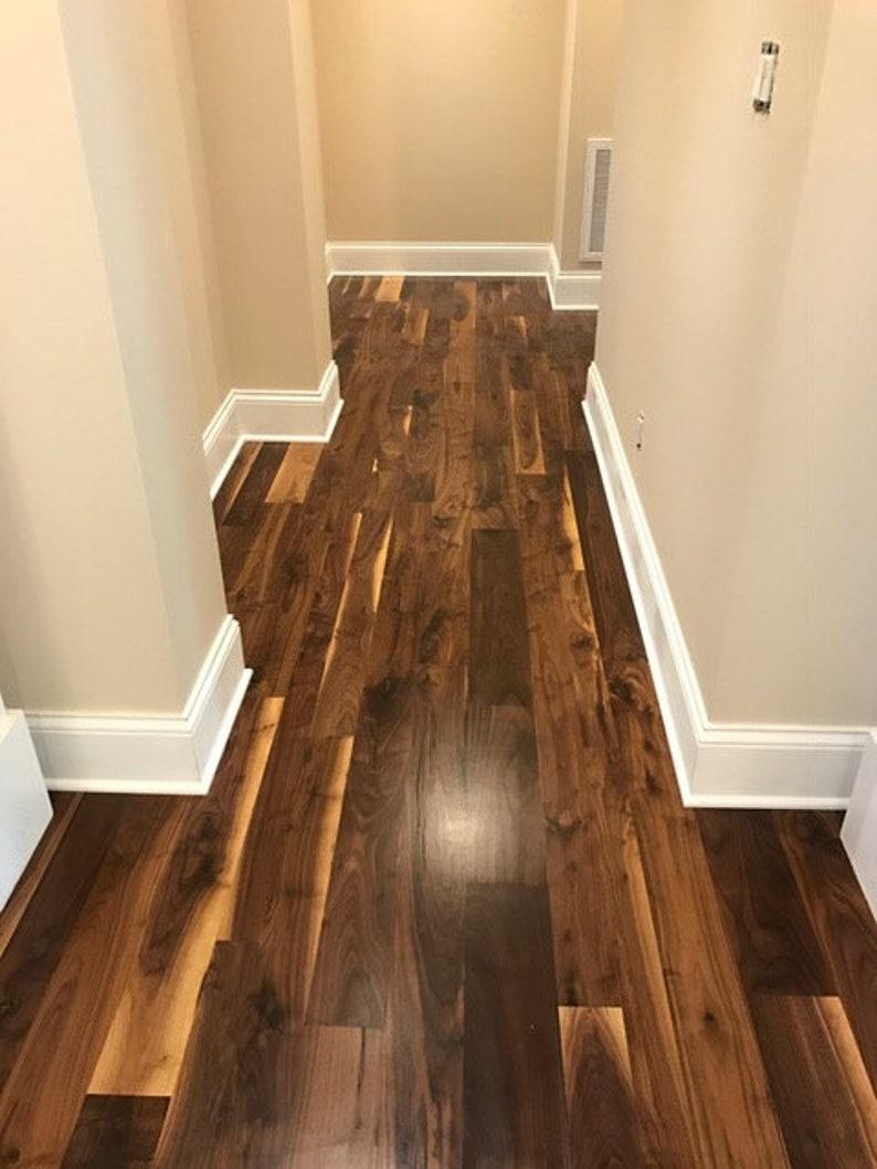 Sale Pre Finished Black Walnut Flooring Etsy