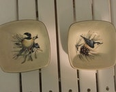 Lenox Collectible Winter Greetings Bird Design Condiment Bowls