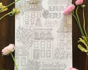 Saint Louis Screen Printed Poster