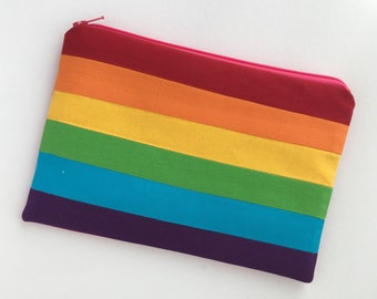 8031d93920 Rainbow Zip Pouch. Pride Pencil Case. Pride Gift. Rainbow Pencil case.