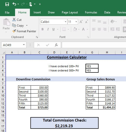 lip business commission calculator etsy