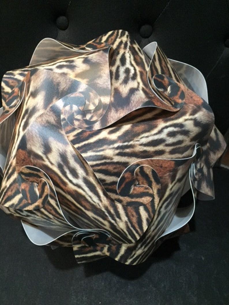 Tiger Animal Print IQ Puzzle Lamp