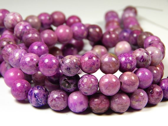 1 Strand 8mm Natural Agate Violet Frosted Crazy Beads 47 Pieces
