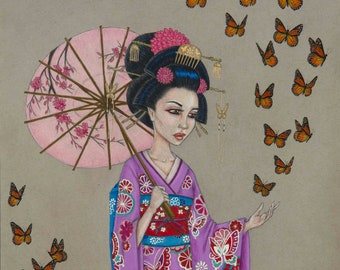Madame Butterfly limited edition Geisha print