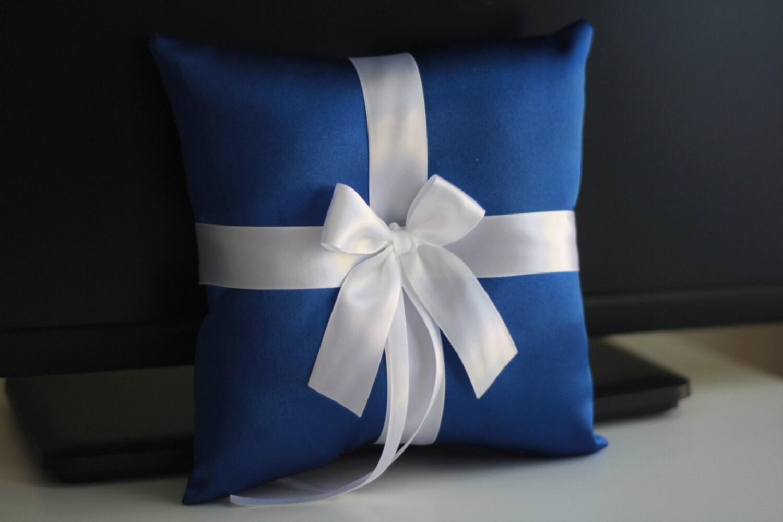 Royal Ring Bearer Pillow Blue Wedding Pillow Blue Wedding Basket