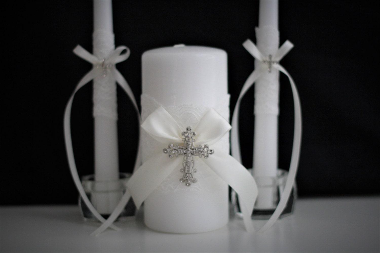 Wedding Candles: Wedding Unity Candle Set Church Candles Wedding Candles
