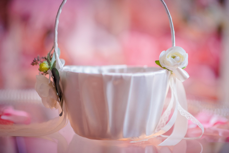 Rustic Flower Girl Basket & Ring Bearer Pillow Set Eucalyptus Basket ...