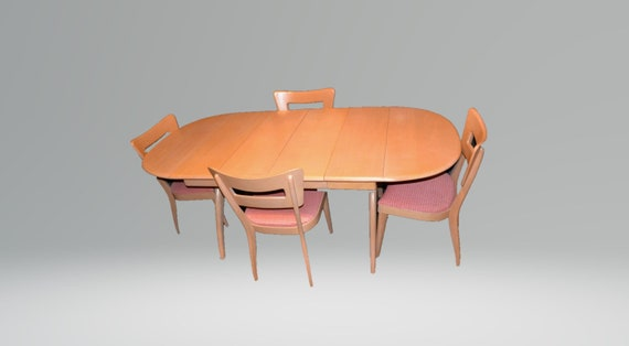 Heywood Wakefield Dining Table And Chairs, Mid Century Heywood Wakefield  Dining Table And Chairs