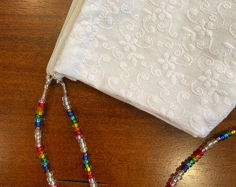Face Mask Lanyard Sets of Rainbow Beads w Clear Beads ~ Fun Pretty Colorful Rainbow can also be used for eyeglassessunglassesairbuds
