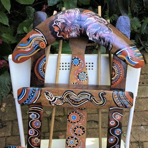 100/% Authentic Aboriginal Message StickTraditional Design