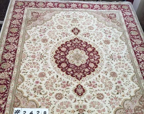 "8' x 10'5"" Sino Chinese Tabriz Design Oriental Rug - Hand Made - 100% Wool"