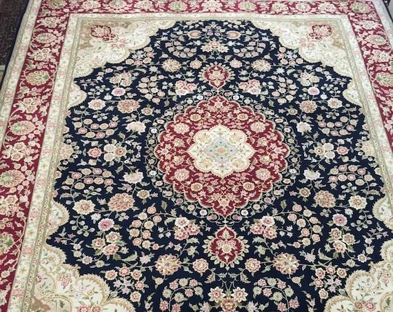 8' x 10' Sino Chinese Persian Tabriz Design Oriental Rug - Wool and Silk