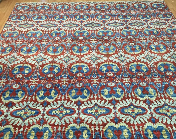 8' x 10' Soft Melody Indian Oriental Rug - Modern - Hand Made - 100% Wool