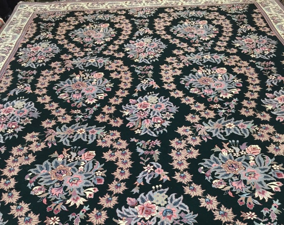 8' x 10' Sino Chinese Oriental Rug - Hand Made - 100% Kork Wool - Green